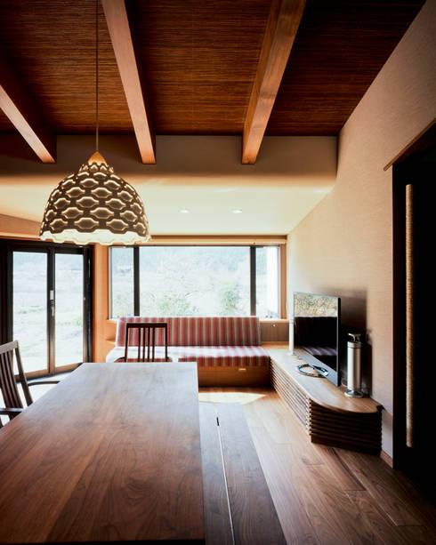 北広島町の家: 伊藤瞬建築設計事務所が手掛けたダイニングです。