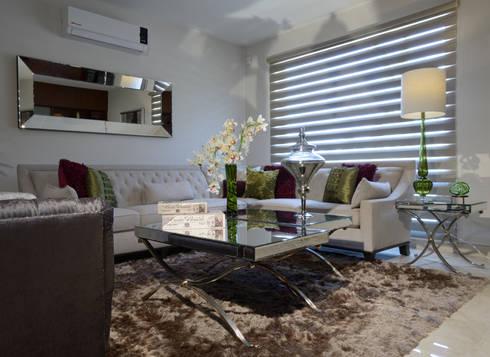 Sala de Estudio Casa GL: Salas de estilo ecléctico por VICTORIA PLASENCIA INTERIORISMO