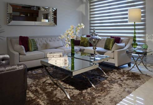 Sala Estudio Casa GL: Salas de estilo moderno por VICTORIA PLASENCIA INTERIORISMO