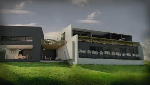 Casa LN Villa Allende (2014): Casas de estilo moderno por GANDIA ARQUITECTOS