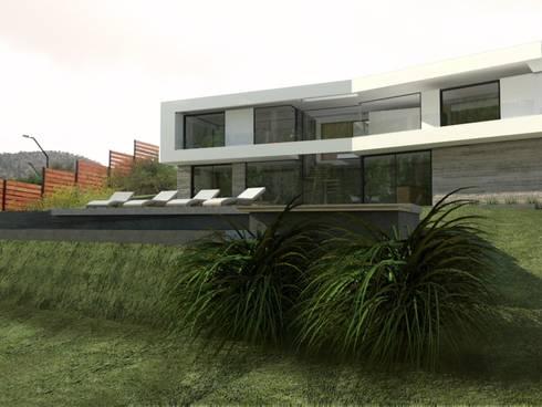 Casa Mirador en Chile: Casas de estilo moderno por GANDIA ARQUITECTOS