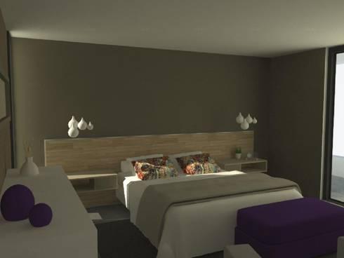 Casa Mirador en Chile: Dormitorios de estilo moderno por GANDIA ARQUITECTOS