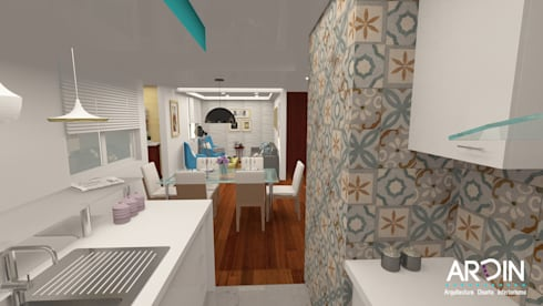 SAN FRANCISCO: Cocinas de estilo moderno por ARDIN INTERIORISMO