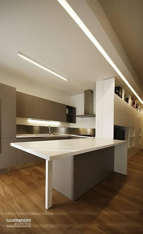 CASA IN CITTA': Cucina in stile in stile Moderno di Luca Mancini | Architetto