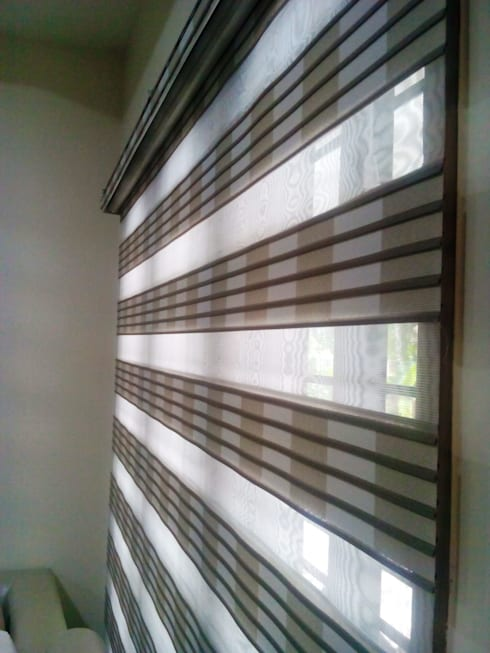 Pleated Zebra Blinds:  Windows & doors  by Clinque window blind systems