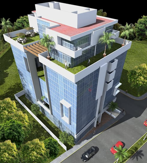 Zona de Penthouses: Casas de estilo minimalista por Milla Arquitectos S.A. de C.V.
