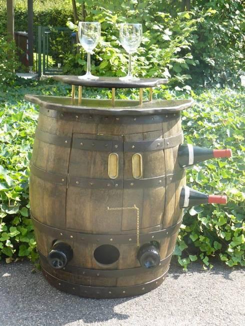 eclectische Wijnkelder door Woodstoneart