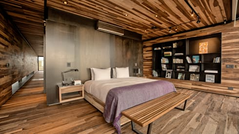 Casa Evans: Dormitorios de estilo moderno por A4estudio