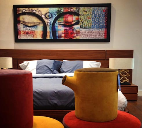 HOSTAL_15: Recámaras de estilo moderno por 11:11 Arte Contemporaneo