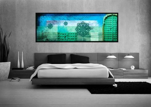 Hostal_11: Recámaras de estilo moderno por 11:11 Arte Contemporaneo