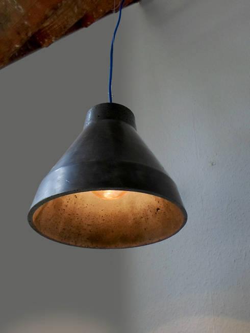 lampe en b ton schwarz door a r design homify. Black Bedroom Furniture Sets. Home Design Ideas