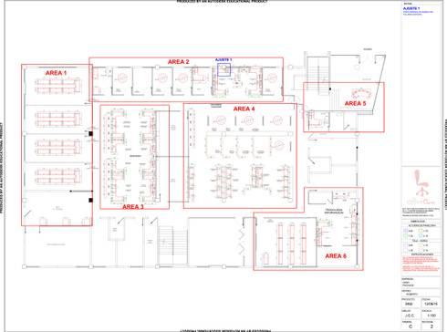 Oxxo: Oficinas y tiendas de estilo  por Office Class de México, S.A. de C.V.
