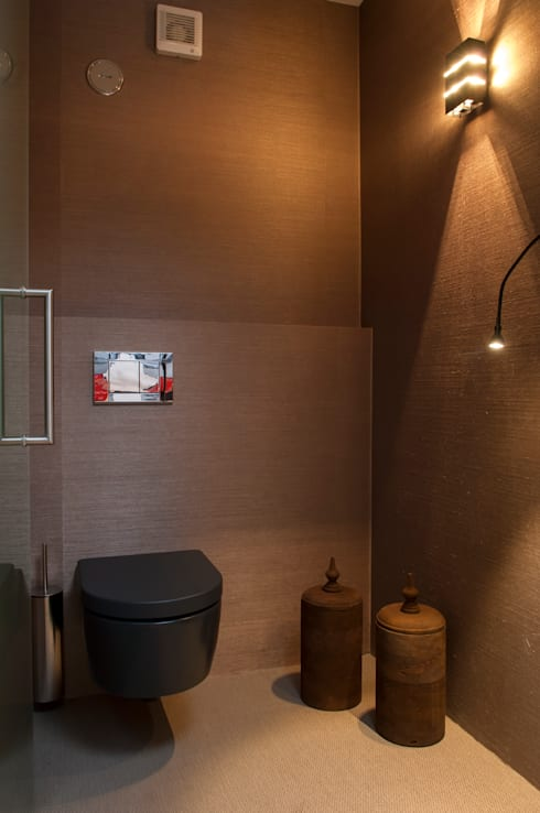 Casa em Open Space: Casa de banho  por Pureza Magalhães, Arquitectura e Design de Interiores