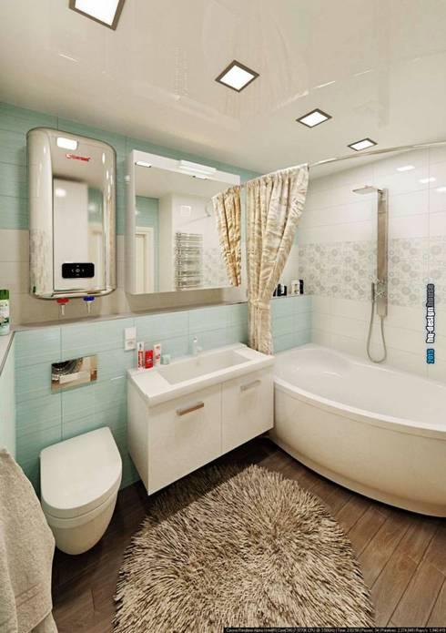 Дизайн интерьера квартиры 90кв.м в г.Саратове на ул.Шелковичной-2: Ванные комнаты в . Автор – hq-design