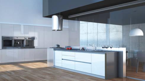 Amoblamientos Reno: Cocinas de estilo moderno por Katz - estilo&diseño