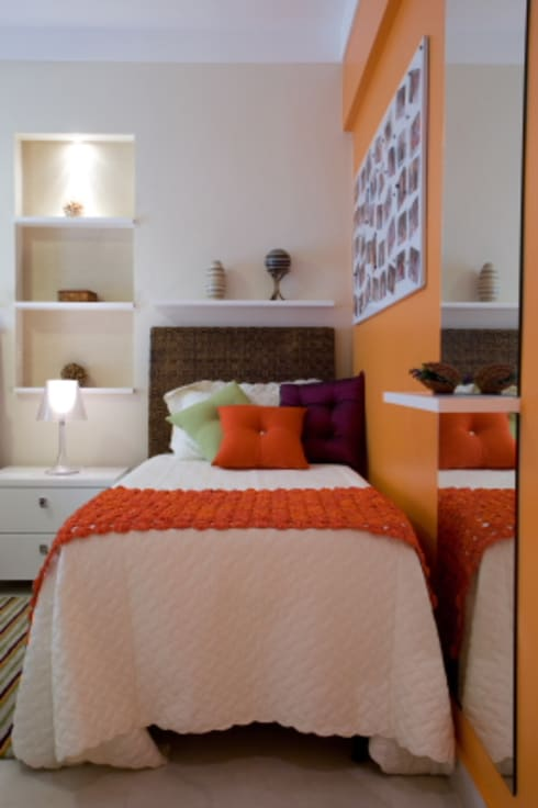 Apartamento Litoral Sul - Brasil, São Paulo: Quartos  por Arquitetura 8 - Ana Spagnuolo & Marcos Ribeiro
