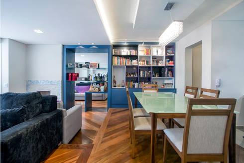 Apartamento 01: Salas de jantar modernas por P.B Arquitetura
