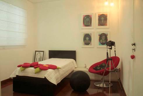 Casa Liberdade: Quartos  por Na Lupa Design