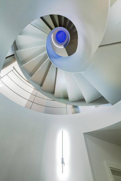 Wohnhaus in Dresden:  Flur & Diele von Hildebrandt Architekten