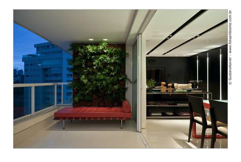 APTO BELVEDERE: Terraços  por Cassio Gontijo Arquitetura e Decoração