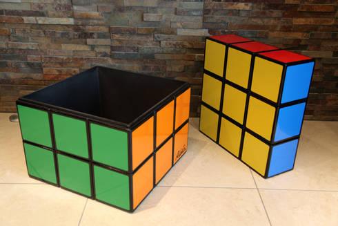 Rubiks Cube Seat Storage Table