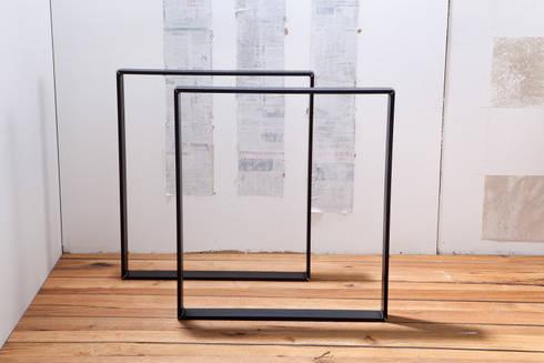 tischbeine beine f r tisch aus rohem stahl von rough and ready homify. Black Bedroom Furniture Sets. Home Design Ideas