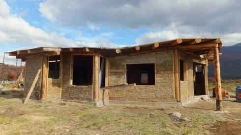 Vivienda TE: Casas de estilo rural por Ecohacer Bioarquitectura y Bioconstrucción