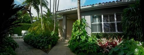 Dilido Island House-Miami: Jardines de estilo moderno por Elías Arquitectura