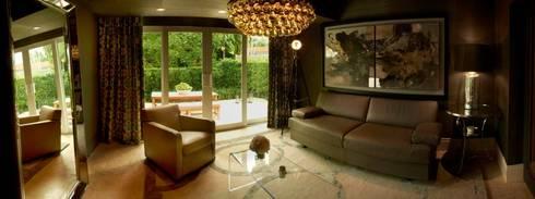 Dilido Island House-Miami: Salas de estilo moderno por Elías Arquitectura