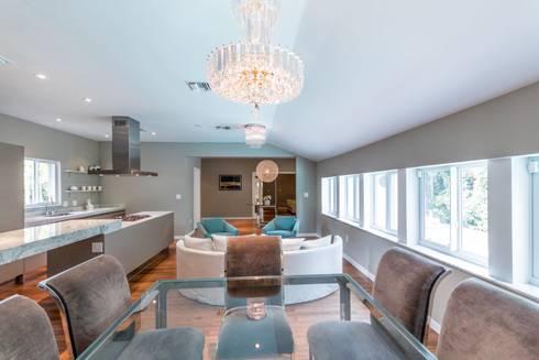 Dilido Island House-Miami 2: Salas de estilo moderno por Elías Arquitectura