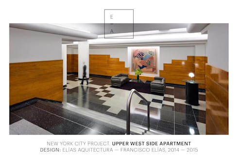 Uppern West Side Apartment-Manhatthan NYC: Estudios y oficinas de estilo moderno por Elías Arquitectura
