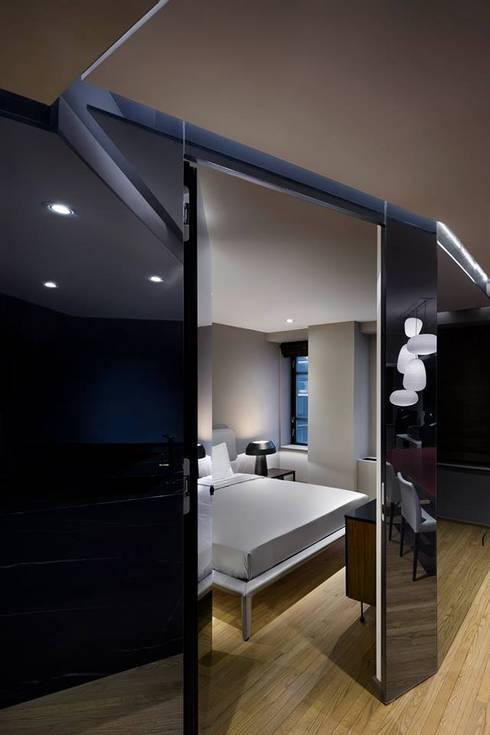 Uppern West Side Apartment-Manhatthan NYC: Recámaras de estilo moderno por Elías Arquitectura