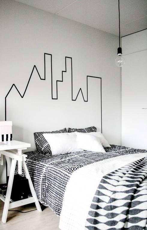 Bruut wonen:  Slaapkamer door Bruut wonen