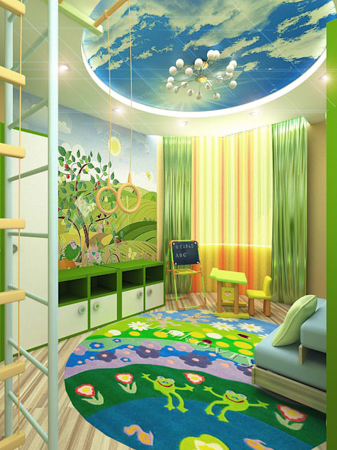 Dormitorios infantiles de estilo  de ИП Поварова Татьяна Владимировна