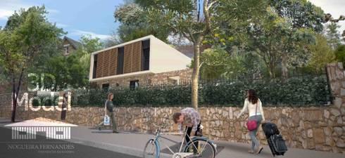 Casa Pré-Fabricada Massy – Paris : Casas modernas por Nogueira Fernandes, LDA