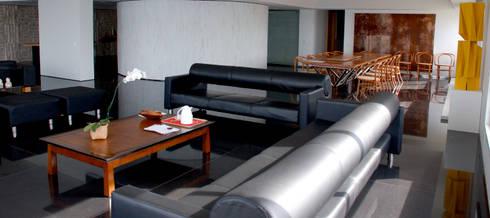 Sala de Estar e Jantar: Salas de estar modernas por Peixoto Arquitetos Associados
