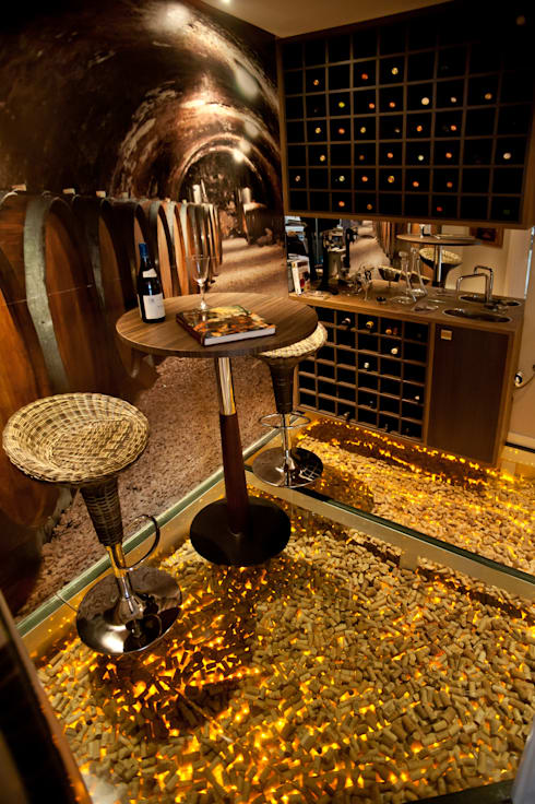 Paulinho Peres Group: modern tarz Şarap Mahzeni