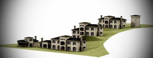 arelauquen casas patagonicas: Casas de estilo minimalista por Lüters ochoa arquitectos.
