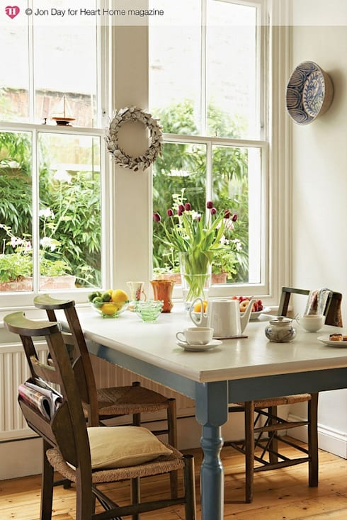 An Eclectic Edwardian Home:  Dining room by Heart Home magazine