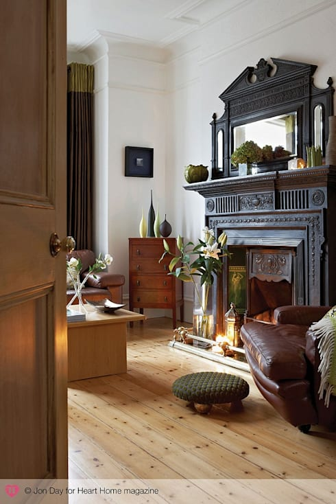An Eclectic Edwardian Home:  Living room by Heart Home magazine