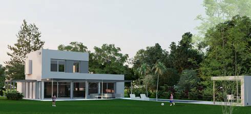 Contrafrente: Casas de estilo minimalista por Ramirez Arquitectura