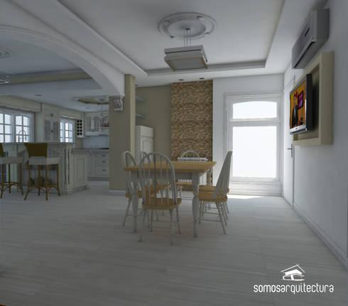 Proyecto de reforma en Cocina / Comedor /Lavadero:  de estilo  por Somos Arquitectura