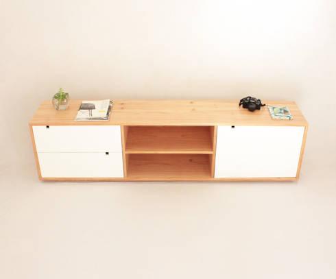 Consola Diogenes: Livings de estilo moderno por Debute Muebles