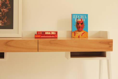 Escritorio Marvin: Estudio de estilo  por Debute Muebles