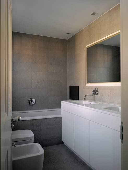 Park Village West: modern Bathroom by Belsize Architects