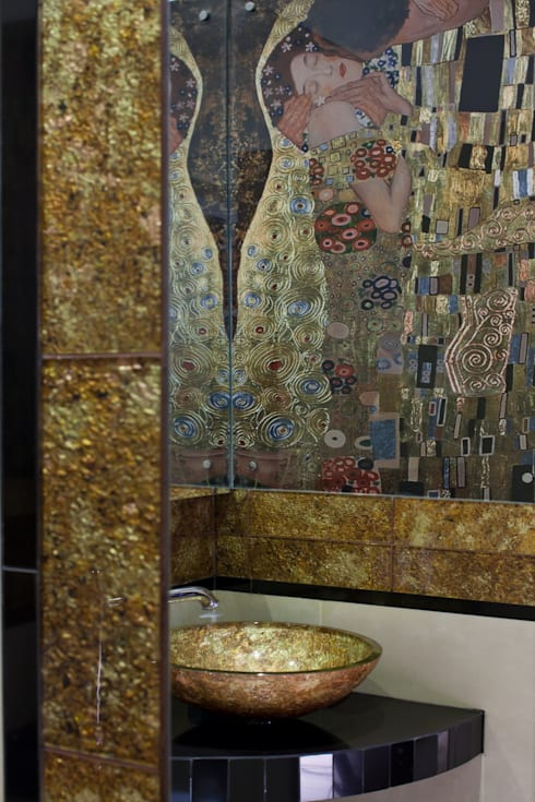 Baños de estilo  por ARTEMA  PRACOWANIA ARCHITEKTURY  WNĘTRZ