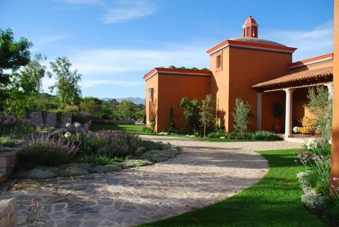 Vista Lateral: Jardines de estilo clásico por Terra