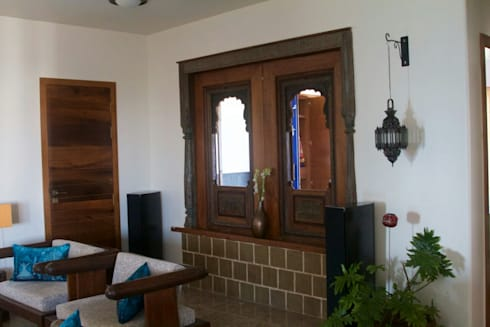 interior project : residential apartment:  Windows by uttara and adwait furniture