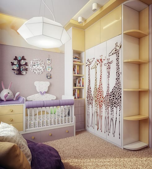 Habitaciones infantiles de estilo  por Инна Михайская