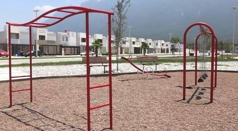 Fraccionamientos Infonavit: Jardines de estilo moderno por Nacional de Bancas